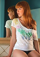 Marie McCray is a stunning redhead with a natural body