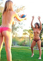 Danielle FTV plays with a new friend