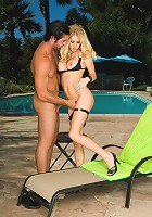 Horny blonde pornstar Allison Pierce loves to fuck by the under the sun