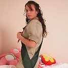 Stephanie in a girl guides costume