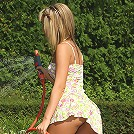 Alexa Hosing Down and Stuffing Her Panties Deep