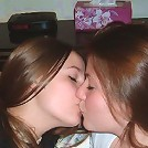Girls showing their love for each other mixed kissing pics