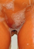 Ava Dawn covers the goods with bubbles!