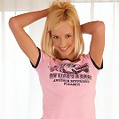 Hanna - Heavenly blonde undresses and shows