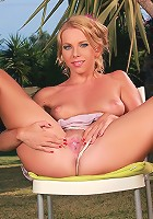 Alica - Luscious blonde strips and spreads