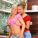 Jolie and Candy - Luscious lesbians strip and lick