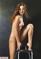 Anna S Nude on a Stool