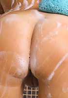 Teen takes hot wet soapy shower