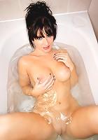 Danni J taking a bath