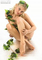 Blonde with plants