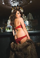 Taylor Vixen takes over the bar after last-call and serves up one hot naked, sexually overcharged pose after another on top of the woodgrain!