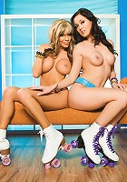 Mandy Lynn and Melissa Jacobs lace up their skates for some naked roller disco! These two sexy hotties are having loads of fun playing grab-ass on wheels!