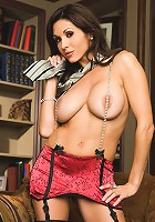 Taya Parker proves that reading is fundamental, or at the very least, fun! Check out this hot, stacked brunette as she peruses the library's stacks for her favorite erotic works!