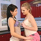 Bambi and Sally - Sultry teens strip and smear cream