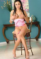 Audrey Bitoni in tiny little pink undies