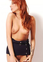 Zemani.com Danielle - Beauty with red hair and with big natural lips poses naked for you.